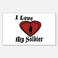 Love My Soldier Rectangle Decal