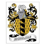 Nicholson Coat of Arms Small Poster