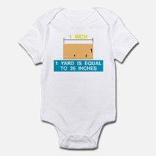 1 Yard is Equal to 36 Inches Infant Bodysuit
