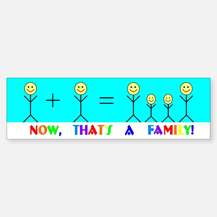 Real Family Bumper Car Car Sticker