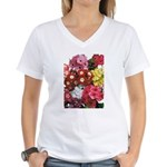Mucho Phlox Women's V-Neck T-Shirt