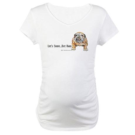 Bulldog Bite for Dog lovers Maternity T-Shirt