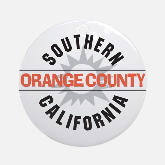 Orange County California Ornament (Round)