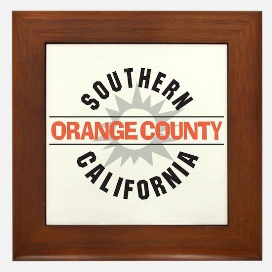 Orange County California Framed Tile