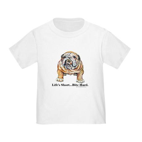 Bulldog Bite for Dog lovers Toddler T-Shirt