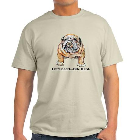 Bulldog Bite for Dog lovers Light T-Shirt