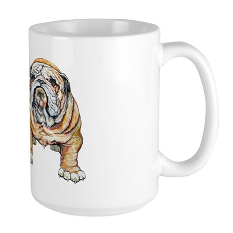 Bulldog Bite for Dog lovers Large Mug