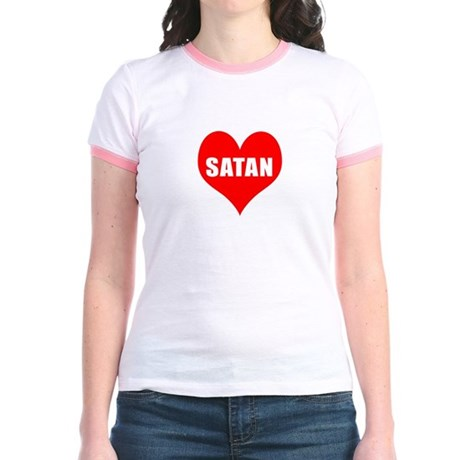 Heart Satan Jr. Ringer T-Shirt