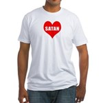 Heart Satan Fitted T-Shirt