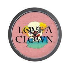 Love a Clown Wall Clock