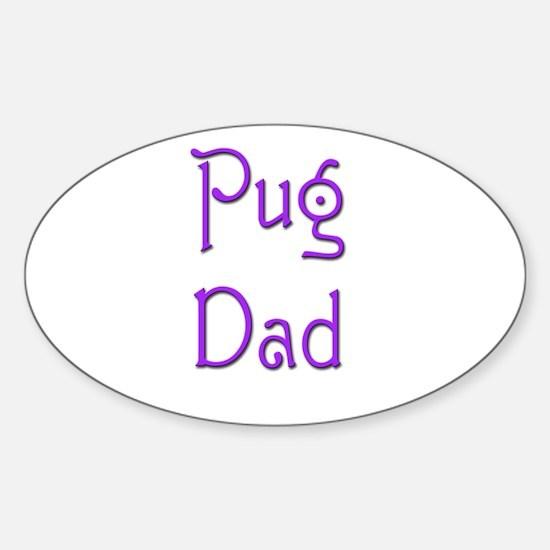 Pug Dad 5 Oval Decal