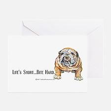 Bulldog Bite for Dog lovers Greeting Cards (Pk of