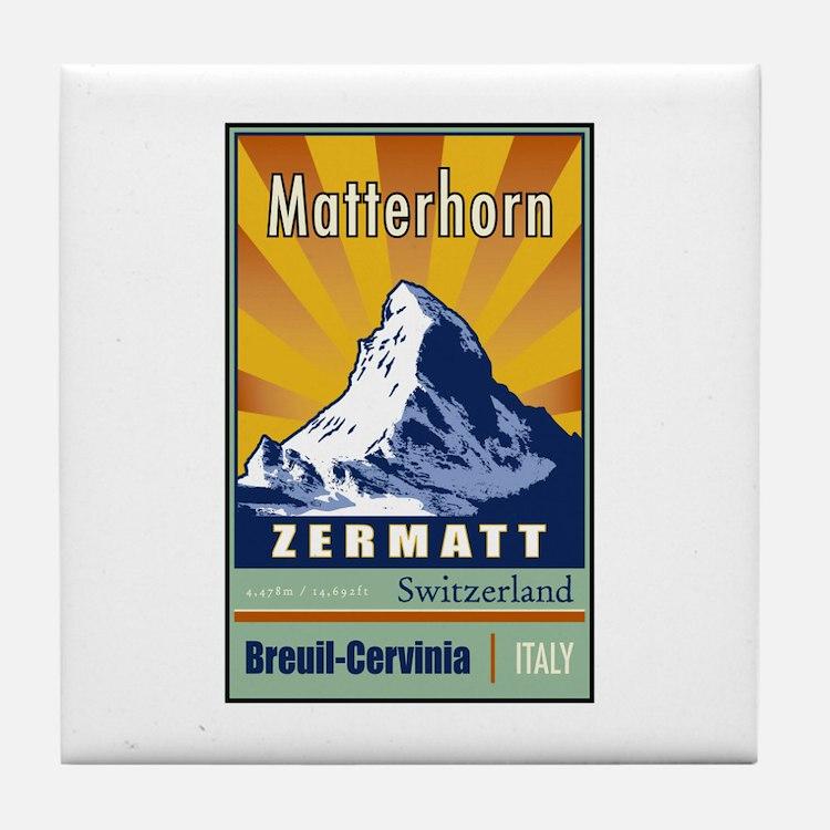 Matterhorn Tile Coaster