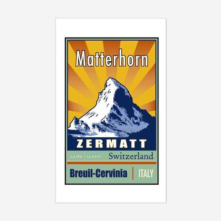 Matterhorn Rectangle Decal