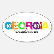 Colorful Georgia Oval Decal