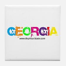 Colorful Georgia Tile Coaster