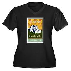el Capitan Women's Plus Size V-Neck Dark T-Shirt