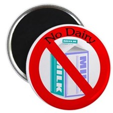 """Allergic to dairy 2.25"""" Magnet (100 pack)"""