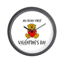 MY FIRST VALENTINE'S DAY Wall Clock
