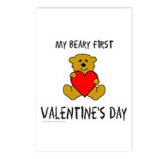 MY FIRST VALENTINE'S DAY Postcards (Package of 8)