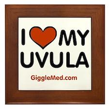 Uvula Love Framed Tile