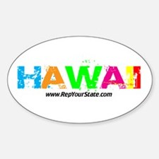 Colorful Hawaii Oval Decal