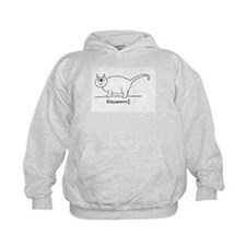 Outline on White Hoodie