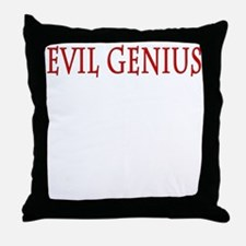 Evil Genius Throw Pillow