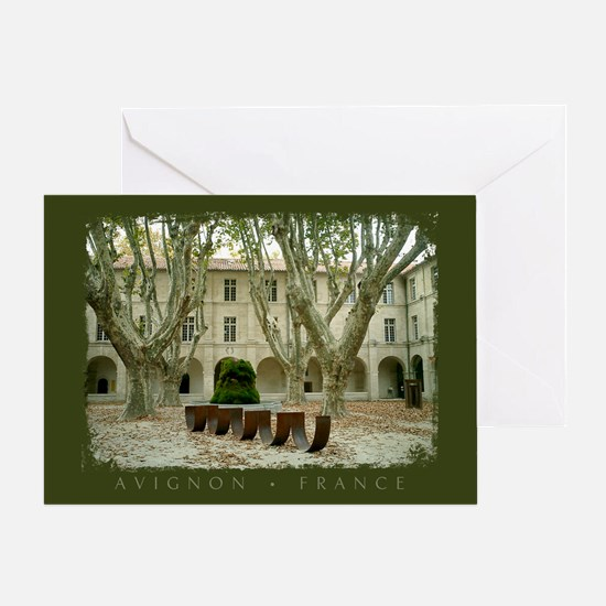 Avignon Courtyard Greeting Card