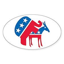Anti-Democrat Oval Decal