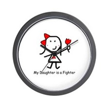 Red Ribbon - Daughter Wall Clock
