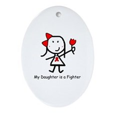 Red Ribbon - Daughter Oval Ornament