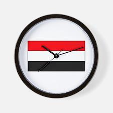 Yemen Yemeni Blank Flag Wall Clock