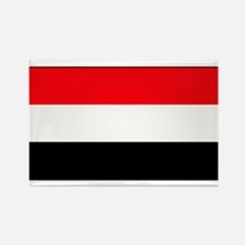 Yemen Yemeni Blank Flag Rectangle Magnet (10 pack)