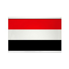 Yemen Yemeni Blank Flag Rectangle Magnet (100 pack