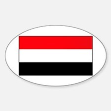 Yemen Yemeni Blank Flag Oval Decal