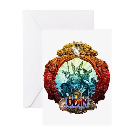 Odin Norse God Greeting Card