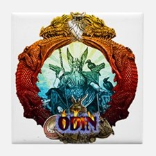 Odin Norse God Tile Coaster