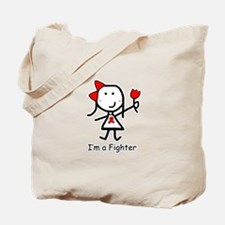 Red Ribbon - Fighter Tote Bag