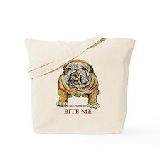 Bulldog Bite Me! Tote Bag