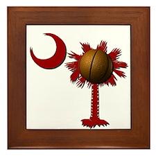South Carolina Basketball Framed Tile