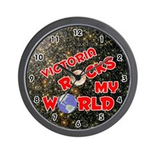 Victoria Rocks My World (Red) Wall Clock