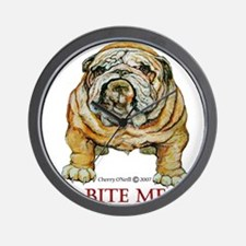 Bulldog Bite ME Wall Clock