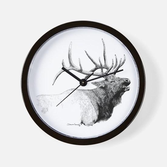 Bull Elk Wall Clock