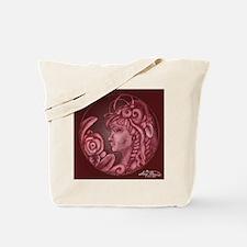 Darla cameo burgundy Tote Bag