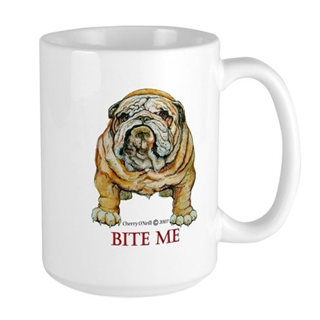 Bulldog Bite Me! Large Mug