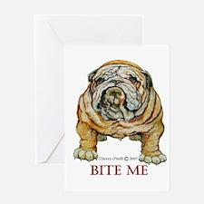 Bulldog Bite ME Greeting Card