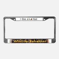 Give a Hoot Wildlife Rehab License Plate Frame