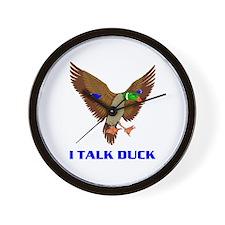 DUCK TALK Wall Clock