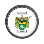 Quinn Family Crest Wall Clock